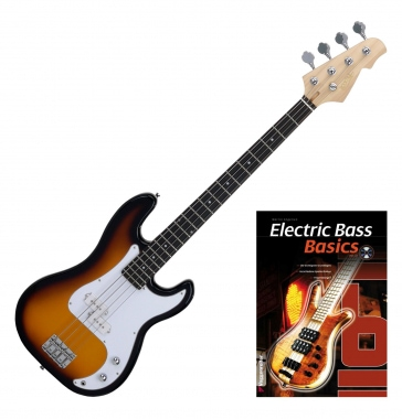 Rocktile Punsher Basse Électrique Sunburst, SET avec Notes + CD (en allemand)