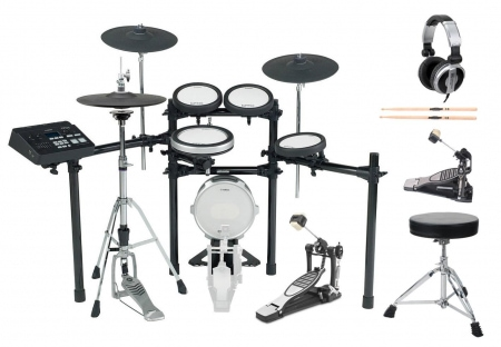 Yamaha DTX720k E-Drum Kit SET 1 mit Fußmaschine,  Hocker, Sticks, Kopfhörer