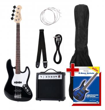 Rocktile Groovers Pack JB E-Bass Set Black