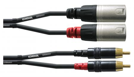 Cordial CFU 1,5 MC Cinch/XLR male 1,5m Paar