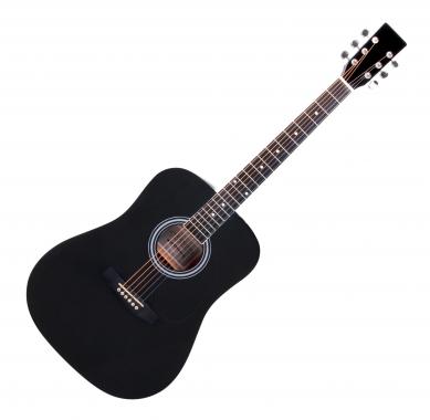 Classic Cantabile WS-10BK Westerngitarre schwarz  - Retoure (Zustand: gut)