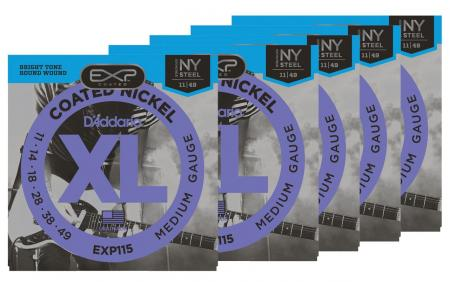 D'Addario EXP115 Medium/Blues/Jazz - 5er Pack