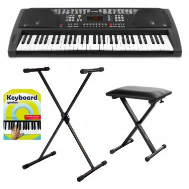 FunKey 61 Keyboard noir Set incl. Support de Clavier. Banquette