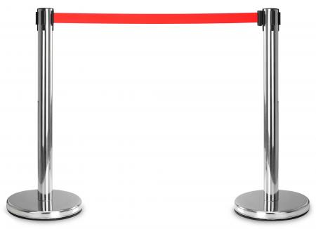 Stagecaptain PLS-200S Barricade Crowd Direction System – Silver Pair