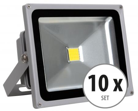 Showlite FL-2030 LED Floodlight IP65 30W 3300 lumen 10-piece SET