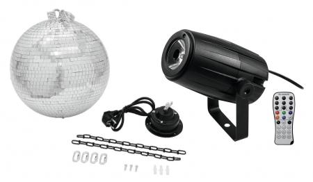 Eurolite LED PST-5 QCL Spiegelkugel Set