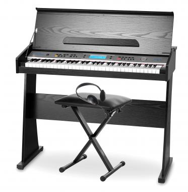 FunKey II DP-61 Digital piano with Black stand SET including bench + headphones