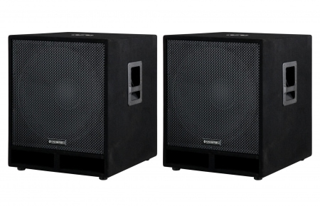"McGrey PAS-118 18"""" passive PA subwoofer bass speaker pair 1800 Watts"