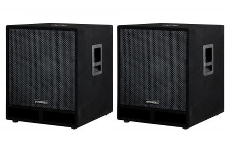 "McGrey PAS-118 pareja 18"""" PA altavoces subwoofer altavoces bajo box de 1800W"