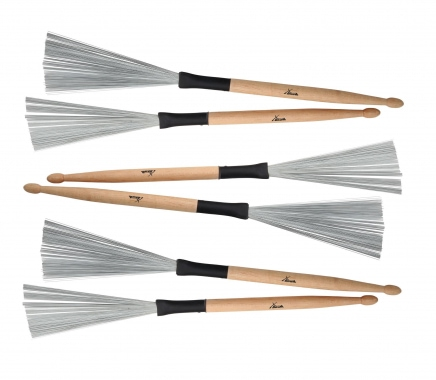XDrum WTD-1S Wire Tap Drumstick Brushes kurz 3 Paar