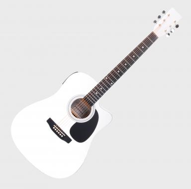 Classic Cantabile WS-10WH-CE Acoustic Guitar White with Pickup