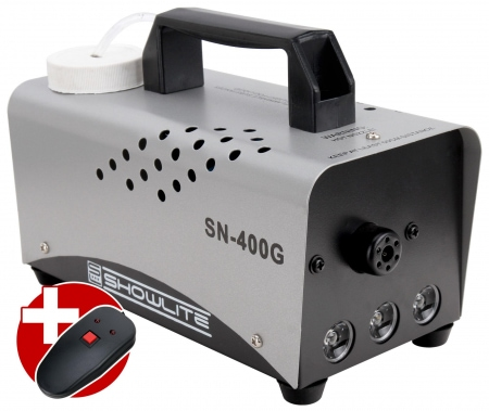 Showlite SN-400G Green DMX Fog Machine 400W incl. remote control