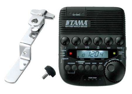 Tama RW200 / RWH10 Rhythm-Watch Metronom SET mit Halterung