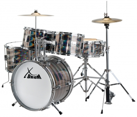 XDrum Junior Pro Kids Drum SET Laser Silver