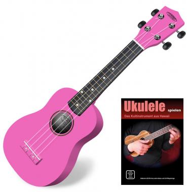 Classic Cantabile Soprano US-100 PK Ukulélé rose