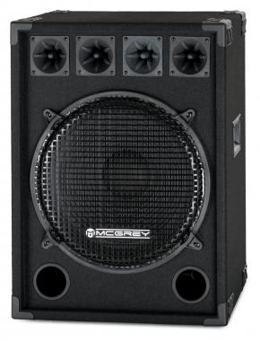 McGrey DJ-1522 Altoparlante Disco DJ-Box 800W