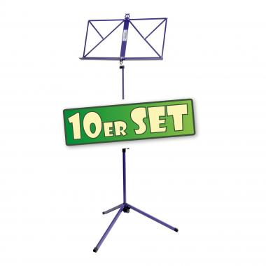 10-Piece Classic Cantabile 100 Music Stand Set, purple