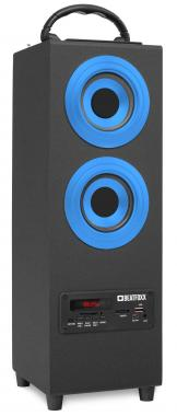 Beatfoxx Beachside+ haut-parleur Bluetooth portable subwoofer USB, SD, AUX, UKW/MW, bleu
