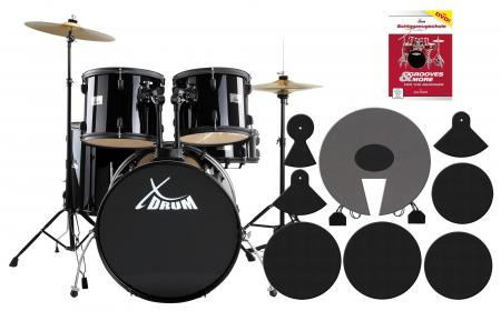 XDrum Rookie II Batteria Standard Set completo nera incluso Set sordine