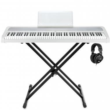 Korg B1 WH Digitalpiano Weiß Stage Set