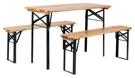 Stagecaptain Hirschgarten beer table and bench set ideal for balcony 117 cm