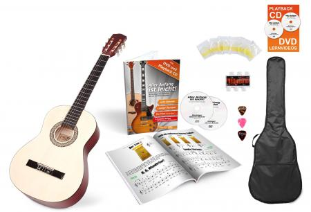 Calida Lucia 1/2-Size Acoustic Guitar Starter Set, Natural, With Accessories
