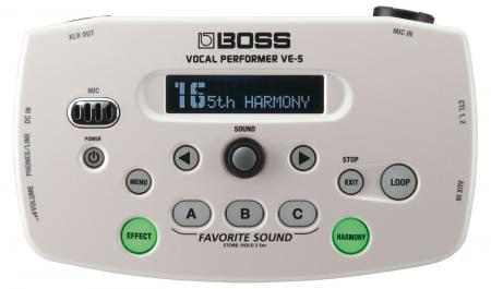 Boss VE-5 Vocal Performer Weiß