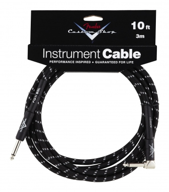 Fender Custom Shop Cable Black Angle 3m