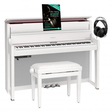 Roland LX-17-PE Homepiano weiß hochglanz Set inkl. Pianobank, Kopfhörer & Schule