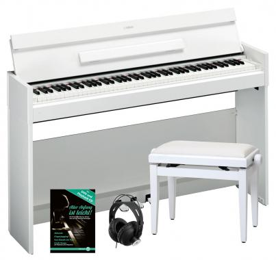 Yamaha Arius YDP-S52 WH Digitalpiano Weiß SET inkl. Bank + Kopfhörer + Notenheft