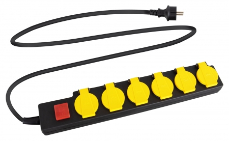 Stagecaptain PSSO-6 6-way outdoor socket strip with switch IP44