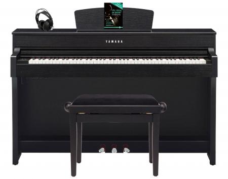 yamaha clp 635 b digitalpiano schwarznuss set mit. Black Bedroom Furniture Sets. Home Design Ideas