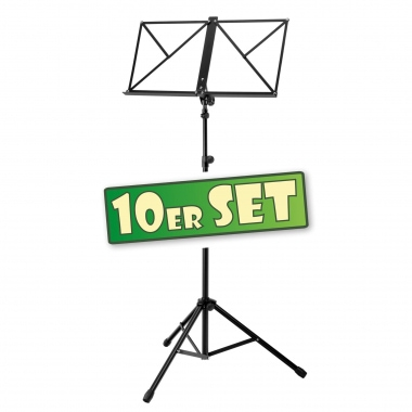 SET of 10 Classic Cantabile Heavy Music Stand, Black