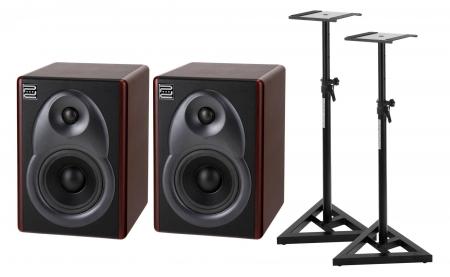 Pronomic M5B Studio Aktivmonitore SET mit Stativen