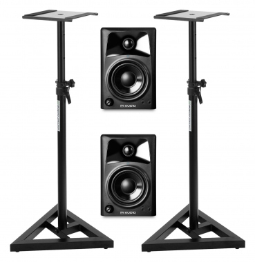M-Audio Studiophile AV32 (Paar) SET mit Stativen