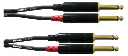 Cordial CFU 3 PP Doppel Klinkenkabel 3 m Schwarz