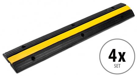 4x Set Pronomic Protector 1-100 Canalina Pavimento Passacavi Ponte Cavo 1 Canale