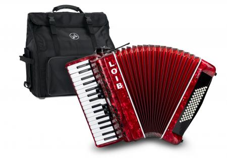 Loib Starter III 72 RD accordéon pour débutant rouge