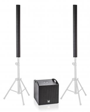 Harmonic Design M8/P12st Stereo Aktivsystem 1500 W 1x P12st Sub 2x M8 Stick, Tragetaschen