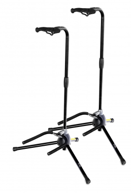 2-Piece SET: Rocktile GSD-20L Universal SimpleLock Guitar Stand with Neck Support