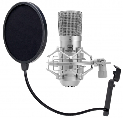 Pronomic CM-10 Large Diaphragm Microphone and Pop Filter