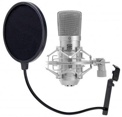Pronomic CM-10 microphone à grande membrane & filtre anti pop