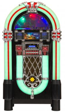 Lacoon GoldenAge jukebox  jaren 40/50 met cd, usb, mp3 speler, radio en Bluetooth