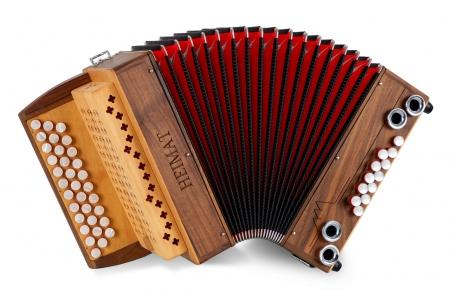 Heimat 3/II harmonica Bb-Es-As noix