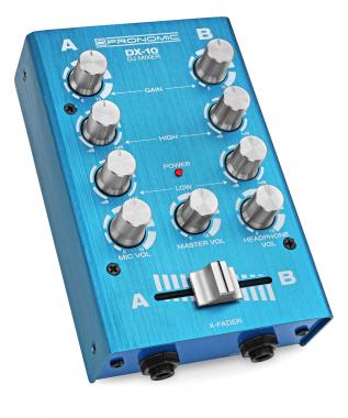 Pronomic DX-10BL DJ module de mixage bleu