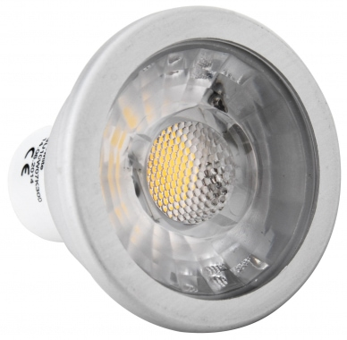 Showlite LED Spot COB GU10W07K30D 7W, 550 Lumen, casquillo GU10, 3000 Kelvin, regulable intensidad