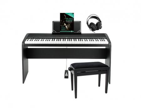 Korg B1 BK Digitalpiano schwarz Deluxe SET