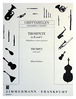 Grifftabelle für Trompete in B und C von Horst Eichler