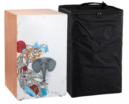 "XDrum Cajon """"Wildlife Beat"""" borsa inclusa"