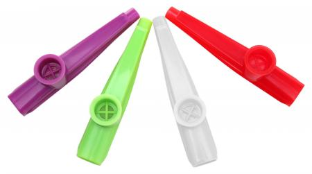 Classic Cantabile FUN Kazoo, Kunststoff-Kazoo, verschiedene Farben